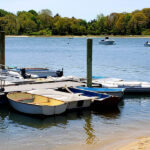 dinghies parked at town dock adjacent to proposed private pier